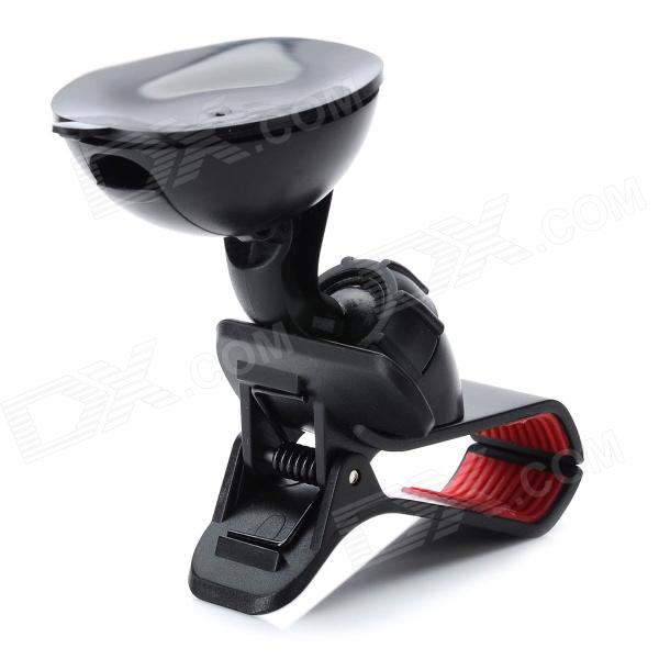 Olecranon Style Universal Car Swivel Mount Holder for Mobile Phone + GPS + More - Black windshield universal swivel rotation car mount holder for cell phone gps psp iphone black