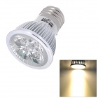 HIWIN E27 4W 320lm 3500K Warm White 4-LED Bulb - Silver