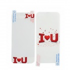 22010173 I Love You Pattern Protective Clear PET Screen Protector for iPhone 5