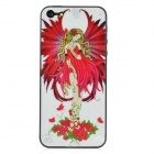 Flower Faerie Glossy Protective Screen Guard + Back Decoration Sticker for Iphone 5