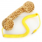 Leopard Pattern Radiation-Proof Telephone Headset for iPhone 4 / 4S / 5 - Brown + Beige