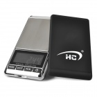 HC ES-06B 1.8&#039;&#039; LCD Digital Jewelry Pocket Scale w/ Sleeve - Silver + Black (200g / 1g / 2 x AAA)