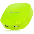 Universal Rechargeable 6000mAh External Mobile Battery Pack Set for iPhone 5 + More - Green