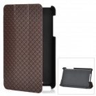 Checked Style Protective PU Leather Case for Google Nexus 7 - Coffee + Black