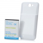 Replacement 3.7V 6800mAh Extended Battery w/ Battery Cover for Samsung Galaxy Note II N7100 - White