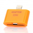 8-Pin Lightning Male to Apple 30-Pin / Micro USB Female Adapter for iPhone 5 / iPad 4 - Orange