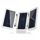Foldable Solar Powered 3000mAh Charger for iPhone 4 /4S / iPad / Cell Phone - White