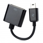 Mini USB Male to 30 Pin Female Data Cable for iPhone 4 - Black (10cm)