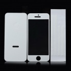 Protective Front + Back + Frame Skin Stickers Set for iPhone 5 - White