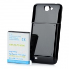 Replacement 3.7V 6800mAh Extended Battery w/ Battery Cover for Samsung Galaxy Note II N7100 - Black