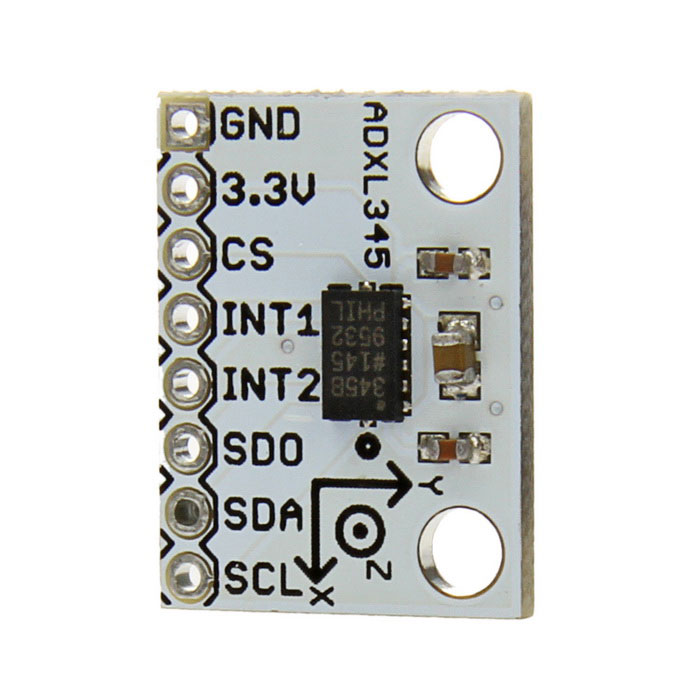 ADXL 345 Triple Axis Acceleration Model Board w/ SPI / I2C - White + Black