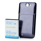 Replacement 3.7V 6800mAh Extended Battery w/ Cover for Samsung Galaxy Note II N7100 - Dark Blue