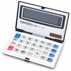Folding Ultra-Thin Solar Powered 12-Digit Electronic Calculator - Black