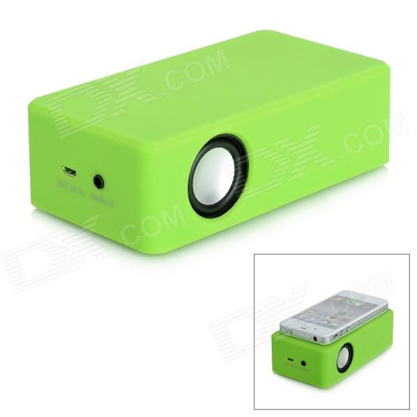 Portable Amplifying Speaker for Iphone 4 / 4S / 3GS / Ipod Touch 4 / + More - Light Green (3 x AA)