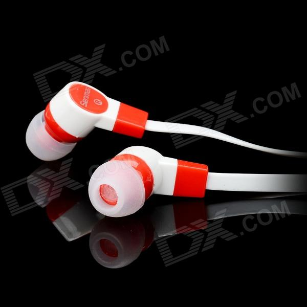 Senmai SM-E1007 Stylish In-Ear Flat Cable Earphone - White ...