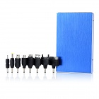 Portable 12000mAh Emergency Power Bank Battery w/ Charging Adapters - Blue