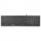 Motospeed K-118 Ultra-Thin Waterproof USB Wired 105-Key Keyboard - Black (150cm-Cable)