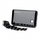 11200mAh Mobile Power Battery Charger w/ Dual USB Ports - Black