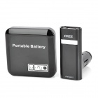 FREE F93 3-in-1 2600mAh Power Bank & Car Charger w/ 6 Adapters Set for iPad / Samsung i900 - Black