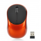 Mini 2.4GHz USB 1000dpi Wireless Optical Mouse w/ Receiver - Black + Orange