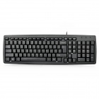 Motospeed Ultra-Thin Waterproof Wired PS/2 103-Key Keyboard - Black (140cm-Cable)