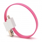 Armband Stil USB 8pin Lightning Data Charging Flat Cable - Pink