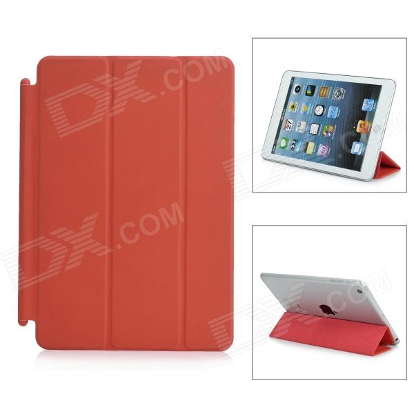 Protective PU Leather Smart Cover for iPad Mini - Red