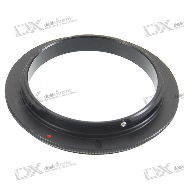 58mm Aluminum Lens Reversal Filter Adapter Ring for Canon EOS
