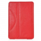 "Lychee Pattern Protective PU Leather Case w/ Stand for 7.9"" iPad Mini - Red"