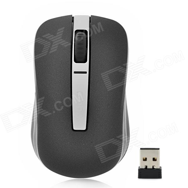 Rapoo 6610 2.4GHz Dual-Mode USB Wireless 1000dpi Optical Mouse - Black + Silver motospeed g310 fashion wireless 1000dpi optical mouse black red 1 x aa