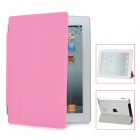 Protective PU Leather Smart Cover for iPad 4 - Pink