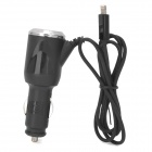 Car Charger w/ Lightning 8-Pin Cable for iPhone 5 / iPod Touch 5 / Nano 7 - White (DC 12~24V)