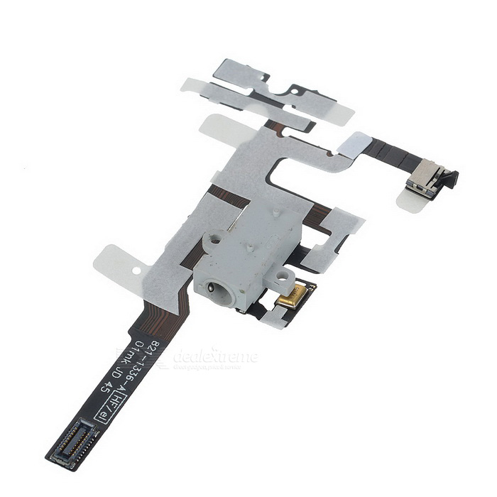 Repair Part Replacement Earphones Audio Jack Flex Cable for Iphone 4S - Black  replacement headphone audio jack flex cable for iphone 4 cdma