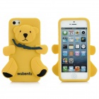 Little Bear Stil Protective Silicone Case für iPhone 5 - Gelb + Schwarz