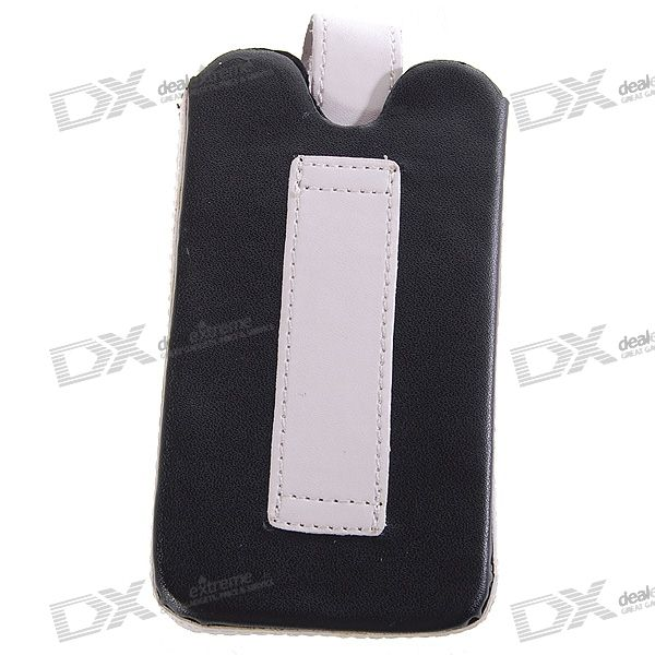 Leather Protective Case for Iphone 3g (Black + Grey)