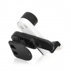 Car Air Outlet Swivel Mount Holder Stand Support for Iphone / Cell Phone - Black + White