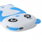 Cite Panda Style Protective Silicone Back Case for Iphone 4 / 4S - White + Black + Blue