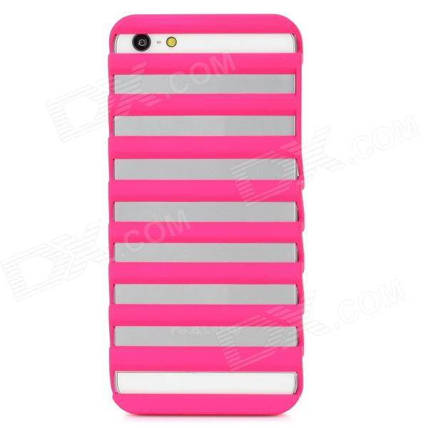 Stage Shape Protective PC Back Case for Iphone 5 - Deep Pink cartoon pattern matte protective abs back case for iphone 4 4s deep pink