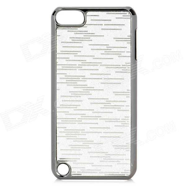 protective pc electroplating cover case for ipod touch 5 - silver - free shipping