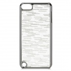 Protective PC Electroplating Cover Case for Ipod Touch 5 - Silver