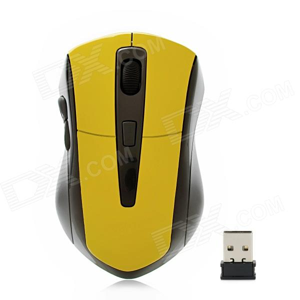 G-180 2.4GHz 1000 / 1200 / 1600dpi Wireless Optical Mouse - Yellow + Black zuntuo zt 302 heise 2 4ghz 800 1200 1600 2000dpi wireless optical mouse black blue
