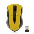G-180 2.4GHz 1000 / 1200 / 1600dpi Wireless Optical Mouse - Yellow + Black
