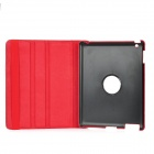 Protective PU Leather Case w/ Smart Cover for iPad 2 / 3 - Red + Black