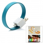 Bracelet Style USB to 8pin Lightning Data Charging Flat Cable - Dark Bluish
