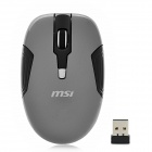 msi M-3231 Wireless 1000 / 1600dpi Optical Mouse - Grey + Black