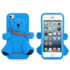 Cute Bear Style Protective Case for iPhone 5 - Blue