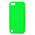 Protective Anti-Slip Tyre Tire Tread Pattern Silicone Back Case for Ipod Touch 5 - Green