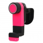 Car Air Outlet Swivel Mount Holder Stand Support for Iphone / Cell Phone - Deep Pink + Black
