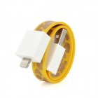 Bracelet Style Flat Micro USB Data Charging Cable - Yellow + White + Golden