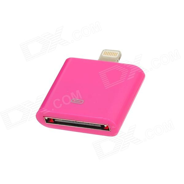 Stylish 30-Pin Female to 8-Pin Lightning Male Adapter for iPhone 5 / iPad Mini / iPad 4 - Deep Pink